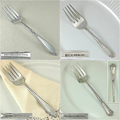 Vintage Antique Silverplate Solid Meat Serving Fork Choice International Silver