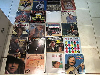 JOB LOT / COLLECTION 20 COUNTRY MUSIC LPs HANK WILLIAMS EMMYLOU HARRIS ROY ACUFF