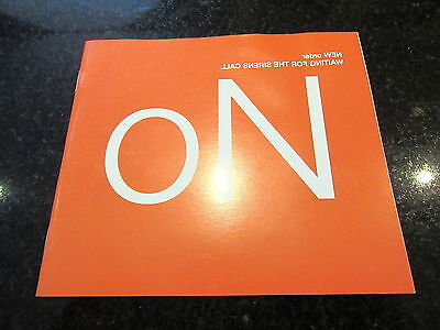 New Order - Waiting For The Siren's Call Rare French Promo Interview Booklet