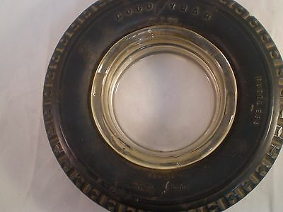 Vintage GOODYEAR Tire Ashtray Super Cushion Deluxe TUBELESS