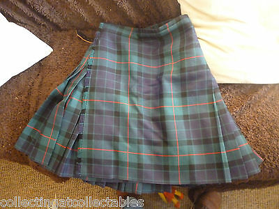 Fashionable Scottish Tartan Kilt  Red Blue Purple Black