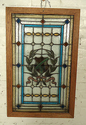 Beautiful Rare Vintage Stained Glass Window (05461)NS