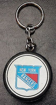 Vintage 1988 New York Rangers NHL Rubber Puck Hockey Keychain - Made in Canada