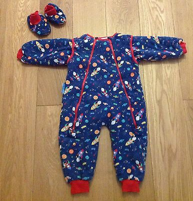 Jojo Maman Bebe Sleep Snuggler & Boots (12-18 Mths) - Ideal for travelling!
