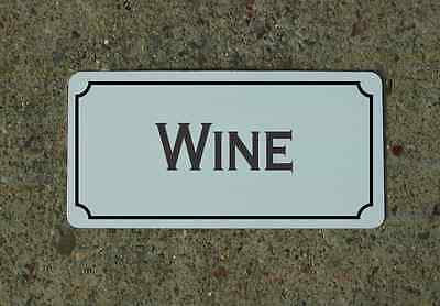 WINE Metal Sign Vintage Style for Wine Cellar Cave or Collection or Kitchen