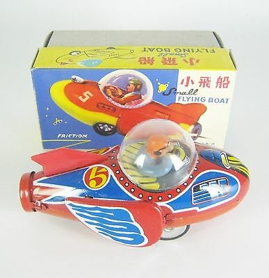 Altes Blechspielzeug China 60er Jahre Flugzeug Small Flying Boat Tin Toy