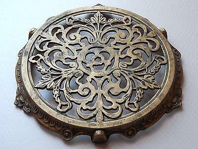 antique,vintage Frenche Trivet ornate bronze,art deco ,table