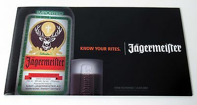 """Jagermeister Know Your Rites Tin Sign Liquor Advertising 17"""" x 10"""" New"""