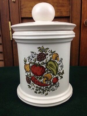 McCOY Pottery 216M Spice of Life Canister with Lid USA Vegetables vtg