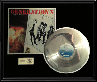 Billy Idol Generation X Valley Of The Dolls Rare Gold Record Platinum Disc  Lp