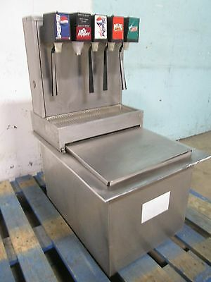 """stainless Ice-Tainer Co"" H.d. Commercial Drop-In Insert 5 Heads Soda Dispenser"
