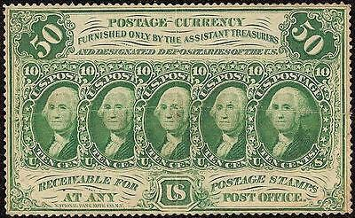 50 CENT PERFORATED EDGE FRACTIONAL CURRENCY GREEN POSTAGE NOTE BETTER Fr 1311