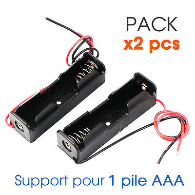 PACK x2 PCS Boitier Bloc Support Pile AAA 1.5V LR3 Batterie Battery Holder Case