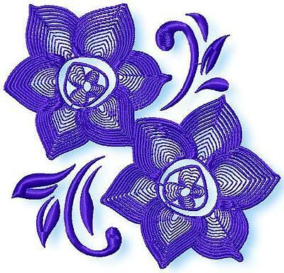 Flower Line 10  Machine Embroidery Designs Cd 4Inch,5Inch