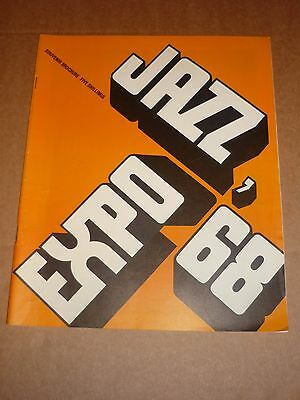 Jazz Expo '68 1968 Concert Programme (Muddy Waters/Dave Brubeck/John Lee Hooker)