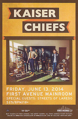 KAISER CHIEFS /STREETS OF LAREDO 2014 MINNEAPOLIS CONCERT TOUR POSTER-Indie Rock