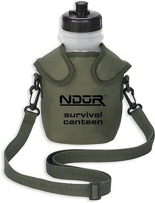 Ndur Survival Canteen 52060 with Advanced Filter. 46 oz. capacity. Includes: BPA