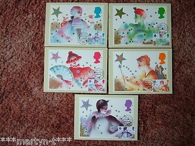 PHQ Stamp cards FDI (Front) No 88 Christmas 1985. 5 card set. Mint Condition