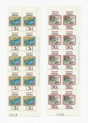 China Macau 1982 Geographical Position stamp in Corner Block of 10 MNH RARE