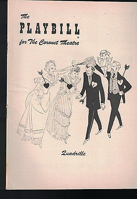Quadrille Playbill December 27 1954 Alfred Lunt Brian Aherne