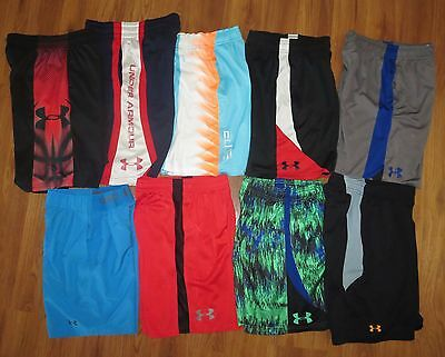 Lot 9 Boys UNDER ARMOUR Nike Elite Athletic Print Basketball Shorts YSM Small 8