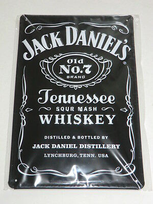 Jack Daniel's Old No 7 Brand Tennessee Whiskey Blechschild Neu OVP
