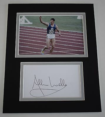 Allan Wells Signed Autograph 10x8 photo display Olympics 100m Sport AFTAL COA