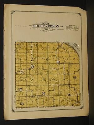 Minnesota Winona County Map Mount Vernon Township 1914  W5#12