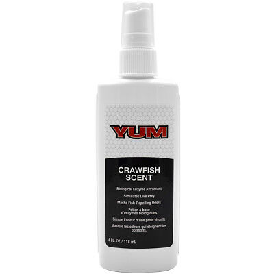 YUM Baits Crawfish Scent 4 oz. Biological Enzyme Attractant Spray