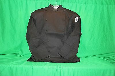 Black Long Sleeve Chef Coat by Chef Revival - Sz X-Small new in bag