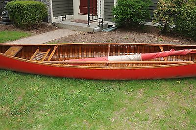1917 Wood Old Town Sail Canoe Wood #48389 18 Foot Canoeing Boats Ship Antique...