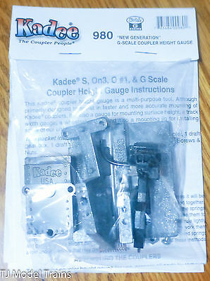 Kadee #980 (G Scale) Coupler Height Gauge w/Type E Knuckle