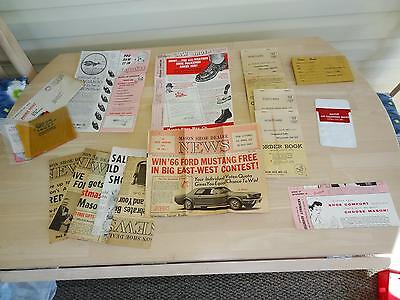 Large Lot of Mason Shoes Papers, 1966-67 Catalogs,Order Books,Newsletters & More