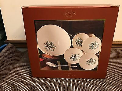 Lenox HOLIDAY (DIMENSION) 6 Piece Serving Bowl Set ~ NEW in BOX