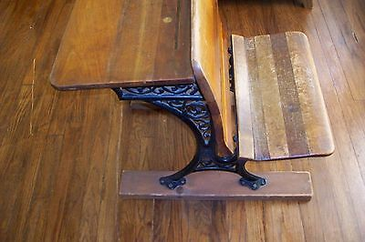 Old RESTORATION SALVAGE ANTIQUE BUFFALO HARDWARE CO.SCHOOL HOUSE DESK CAST IRON