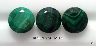 Malachite Facted 12 Mm Round Cut Great Green Color  All Natural Sold As Each