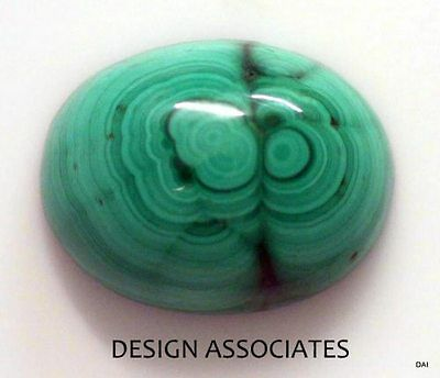 Malachite Cabochon 15.89X12.30 Mm Oval Cut Great Green Color  All Natural
