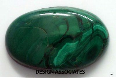 Malachite Cabochon 27.39 X 17.49 Mm Oval Cut Great Green Color  All Natural