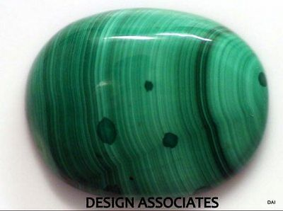 Malachite Cabochon 25.48 X 19.50 Mm Oval Cut Great Green Color  All Natural