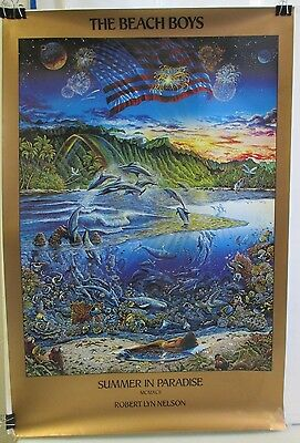 """Original 1992 The Beach Boys Summer In Paradise Poster By Robert Lyn Nelson 36"""""""