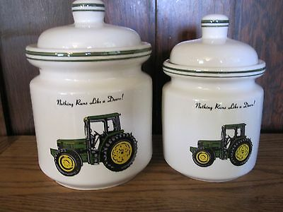 2  Jar John Deere Canister Set by Gibson (4 pieces)