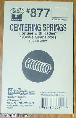 Kadee #877 (#1 Scale) Centering Springs for: Gear Boxes #821 & 921