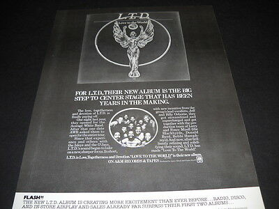L.T.D. LTD Big Step To Center Stage LOVE THE WORLD original Soul Promo Poster Ad
