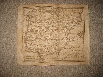 Antique 1809 Spain Portugal Copperplate Map Old Castile Andalusia Majorca Fine N
