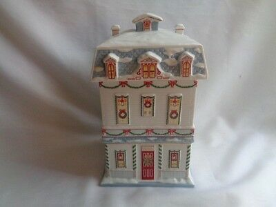 Lenox  Village Rare X-Mas Cookie Canister  Jar 1990
