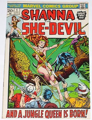 Shanna the She-Devil #1 from Dec 1972 VG/F to F Origin and 1st appearance Shanna