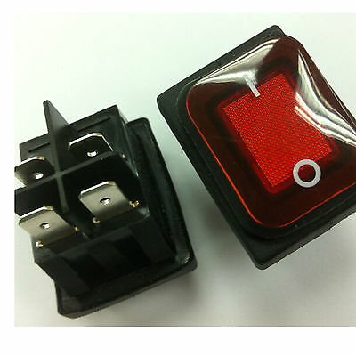 1PCS NEW Waterproof Red IP65 4 Pin 2 position Rocker switch 250V/10A 125V/16A