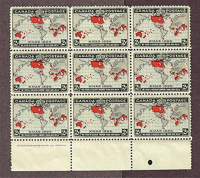 Canada Map Stamps #85 Vf Mnh  Block (Fay3