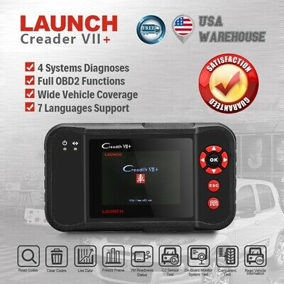 LAUNCH Creader VII+ OBD2 Car Diagnostic Scanner Scan Tool Code ReaderABS SRS