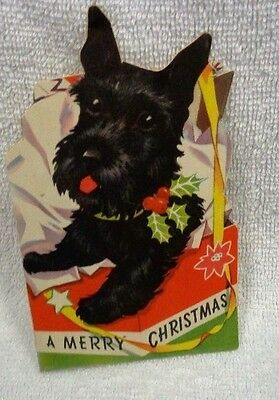 Scotty Scottie Dog A Merry Christmas Christmas Card